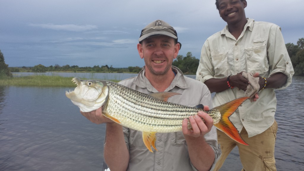 Gary with his catch on Lake Kariba - Zimbabwe
