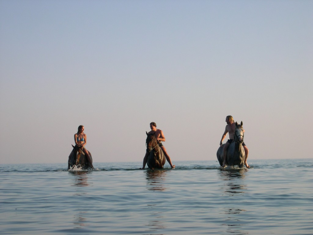 Horse riding at Lake Malawi