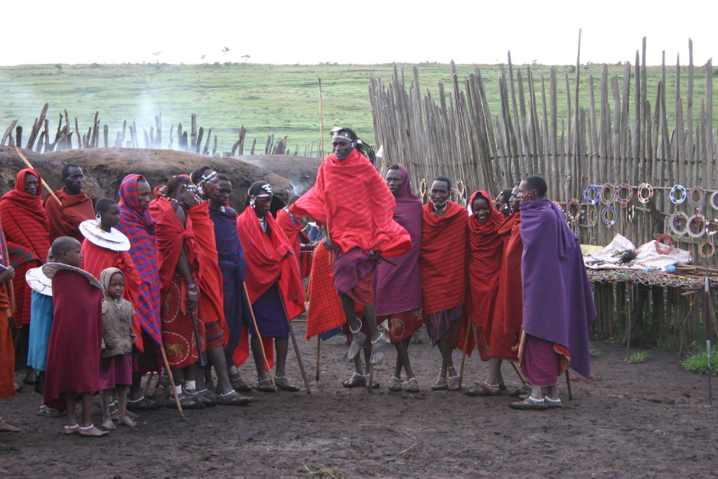 Maasai men dancing - Kenya
