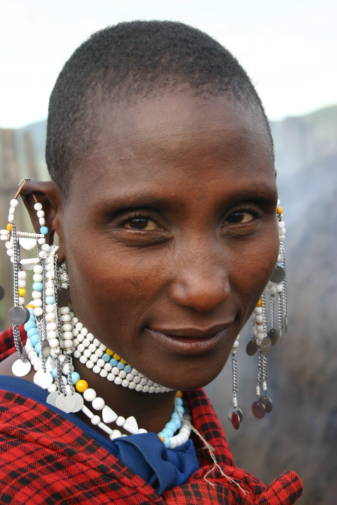 Maasi woman portrait